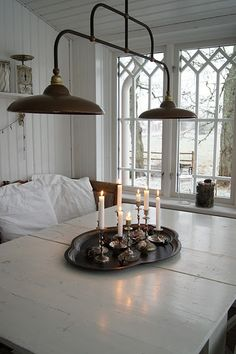 shabby chic dining rooms | ... Great photo of Malin's dining table, on her Lantliv i Norregard blog