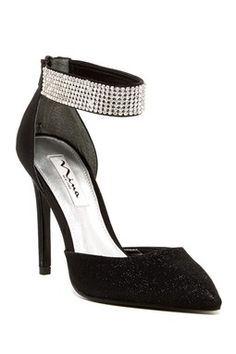 Rosey Crystal Ankle Strap Pump