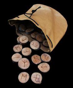 Waldorf ~ 4th grade ~ Handwork ~ Norse Mythology ~ Bag of runes... would be fun to reproduce!