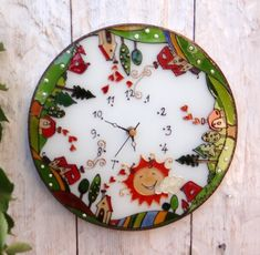 Farm wall clock Painted Glass Wall Decor Houses Glass Art Boho decoration Vintage style Birthday present Home decor Personalize gift Wall Clock Painting, Vintage Style, Vintage Fashion, Personalized Gifts, Handmade Gifts, Birthday Presents, Boho Decor, Glass Art, Decorative Plates