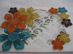 Open Scallop by SrPetra Gwidt,  Striped scallop and deco labels. New fun flower punch and beautiful bunch stamp set