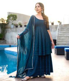 Designer Wear, Designer Dresses, Pakistani Sharara, Punjabi Dress, Punjabi Suits, Anarkali Dress, Indian Fashion Dresses, Indian Outfits, Frock Fashion