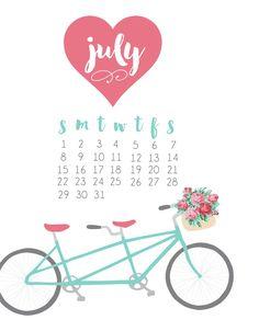July 2018 iPhone Background Calendar