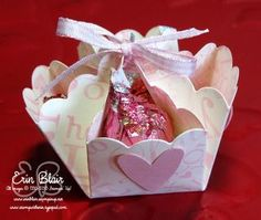 Cute Box used for a candy dish - Hugs and Kisses Holder - refers you to original site tut