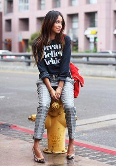Sweater: SincerelyJules | Trousers: Mango | Belt: Mango | Pumps: Deena & Ozzy | Bag: Zara