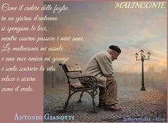 TuttoPerTutti: MALINCONIE di ANTONIO GIANOTTI Come il cadere delle fogliein un giorno d'autunno si spengono le luci, mentre osservo passare i miei anni. La malinconia mi assale e una voce amica mi giunge e sento scorrere la vita veloce e sicura come il vento.  http://tucc-per-tucc.blogspot.it/2016/01/malinconie-di-antonio-gianotti.html
