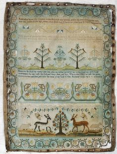 EARLY 19th CENTURY GEORGIAN SILK SAMPLER on Ebay