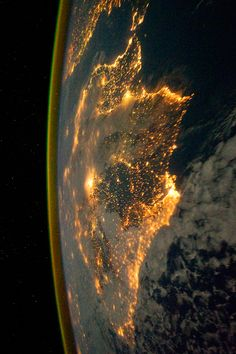 Barcelona, Spain ~ By NASA Goddard Space Flightbarselona spain flightb Cosmos, Earth At Night, Nasa Goddard, Nasa Photos, Earth From Space, Sistema Solar, Space And Astronomy, Space Station, Space Shuttle