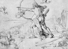 Hercules and the birds symphalischen - Albrecht Durer