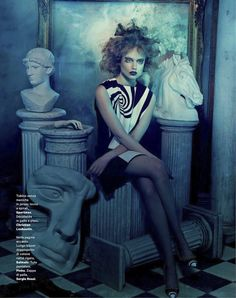 omaggio a cocteau: luize salmgrieze by sandrine dulermo for amica march