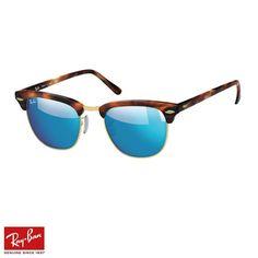 bdd2e7890 RayBan Clubmaster Flash F.Mavi-Tortoise Gözlük - 32 #RayBan #RayBanGözlük  #Clubmaster Flash