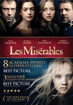 Les Miserables on DVD/Blu-ray March 22. http://www.christianfilmdatabase.com/review/les-miserables/