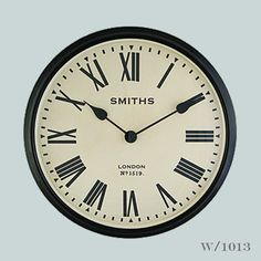 Our oversized Smiths Station Clock at 60 cams diameter, makes a real statement on a wall. The dial is inspired from a station clock at Wimbledon!