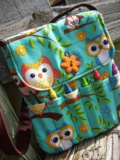 Owl Crayon Purse Little Girls Purse by BagsBeadsandMore on Etsy, $14.00