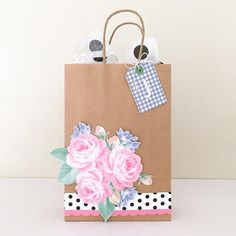 paper boutique with a passion for making beautiful products to help you stay organized, celebrate life's little moments and to document it all. Diy Decorate Gift Bag, Diy Gift Bags Paper, Craft Bags, Craft Gifts, Paper Bags, Creative Gift Wrapping, Creative Gifts, Paper Bag Decoration, Fete Ideas