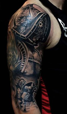 tattoo sleeve male gladiator - Google Search