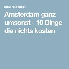 Amsterdam ganz umsonst - 10 Dinge die nichts kosten