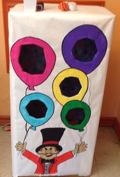Carnival themed birthday party game  Bean bag toss