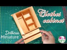 DIY Miniature Clothes Cabinet | How to make Clothes Cabinet for Dollhouse - YouTube
