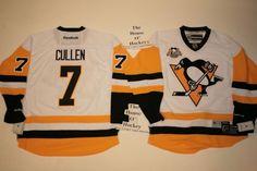 Matt Cullen NEW away Pittsburgh Penguins Reebok Hockey Jersey w/ 50th patch  #Reebok #PittsburghPenguins