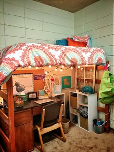 College dorm set up! LSU Miller