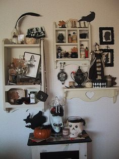 Black and Cream witch's cupboard Halloween 2010
