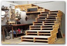 Construir escalera con pales
