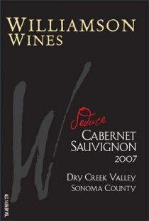 """2010 Williamson """"Seduce"""" - bordeaux style cabernet blend - fantastic!"""