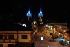 Baños, Ecuador at night