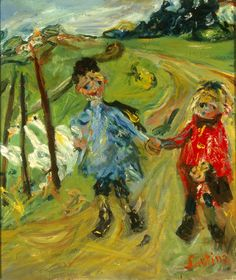 Chäim Soutine (Russian, 1893–1943, active in France)  Children and Geese, 1934  Oil on canvas  21 5/8 x 18 1/8 in. (54.93 x 46.04 cm)  Gift of Mrs. Harry Lynde Bradley M1959.375   Photo credit Efraim Lev-er  ©2010 Artists Rights Society (ARS), New York / ADAGP, Paris