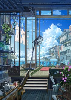 The world i wish to live in studio ghibli background, art background, anime scenery Fantasy Landscape, Fantasy Art, Landscape Art, Landscape Photography, Arte 8 Bits, Japon Illustration, Anime Scenery Wallpaper, Anime Artwork, Usa Tumblr