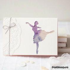 Ballet dancer card  beautiful!
