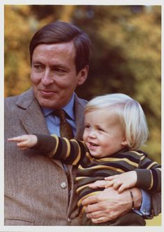 Prince Claus and a young Prince Friso