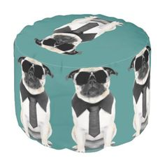 Cool Pug Pouf - cool gift idea unique present special diy