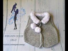 Kolay Haraşö Yelek Yapımı # 4 Bölüm - YouTube Baby Knitting Patterns, Knitting Stitches, Baby Patterns, Crochet Patterns, Christmas Look, Crochet Baby, Knit Crochet, Moda Emo, Baby Fabric