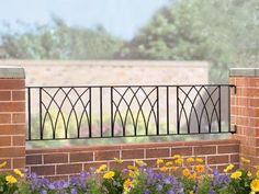 Abbey Wrought Iron Style Metal Garden Railings available in a variety of sizes, ready for you to buy online today.