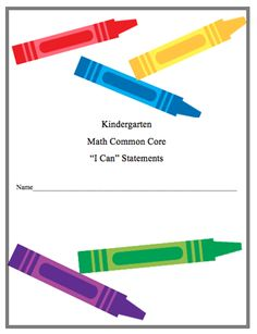 "Here's a series of assessment pages for the CCSSM in K. These are written as a series of ""I Can"" statements using language pulled directly from the standards."