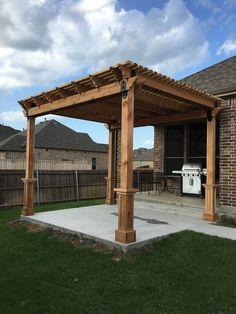 A Beautiful Pergola On A New Concrete Patio Creates A Great Outdoor Area  For Hamburgers U0026