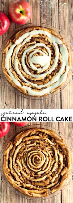 This spiced apple cinnamon roll cake blows boring breakfast away with amazing flavor!