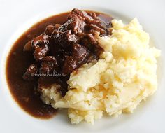 Beer stew and mashed potatoes - Nombelina.com