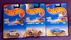 Hot Wheels 2007 New Models Porsche Cayman S lot of 3 color variations #Porsche #Porsche