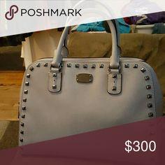 Michael Kors Handbag Never been on the ground Gray bag with black metallic hardware and studs. Michael Kors Bags Satchels