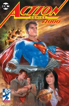 Action Comics #1000 DC Comics SUPERMAN Variant Cover Art by Dave Dorman Action Comics 1000, Lex Luthor, Dc Comics Art, Comic Books Art, Book Art, Comic Artist, Comic Covers, Supergirl, Marvel Dc