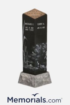 Do you need an idea for your loved ones cremation ashes? Our beautiful cremation pillars are the perfect vase for cremation ashes for the cemetery, grave site, or memorial garden. Visit Memorials.com for more information.