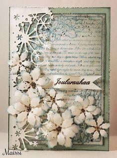 Maissin askartelusoppi: Lähes valkoinen joulukortti