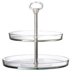 "Global Amici Palladio 2 Tier Cake Tiered Stand - Make up storage 9"" H x 10.5"" W x 10.5"" D"