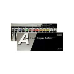 Acrylic Color Paint Alpha Silver Set 13 Colors 20ml 0.67oz Tube  #Alpha