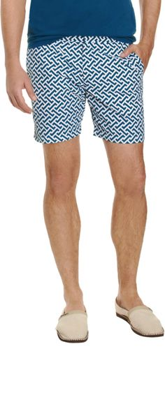 Orlebar Brown Geometric Print Bulldog Swim Trunks