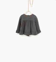 Loose fit embroidered blouse-SHIRTS-Baby girl-Baby | 3 months - 3 years-KIDS | ZARA United States