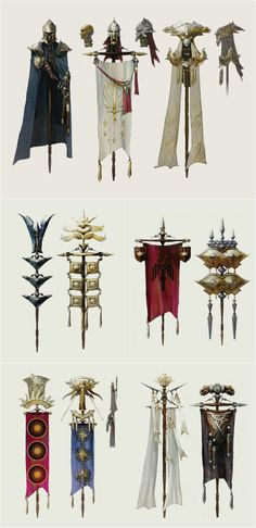 Faction banners in The Art of Dragon Age: Inquisition